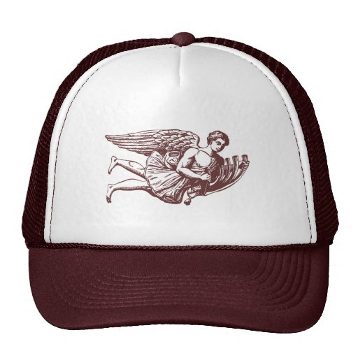Ángel musical que vuela gorras de camionero