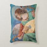 Angel Musician Decorative Pillow