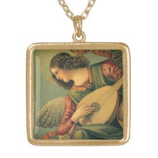 Angel Musician, Melozzo da Forli, Renaissance Art Gold Plated Necklace