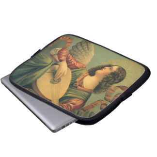 Angel Musician, Melozzo da Forli, Renaissance Art Laptop Sleeve