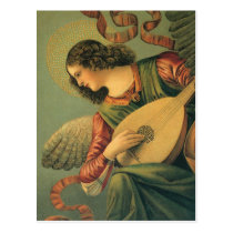 Angel Musician, Melozzo da Forli, Renaissance Art Postcard