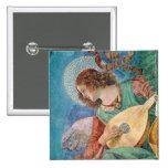 Angel Musician Pinback Button