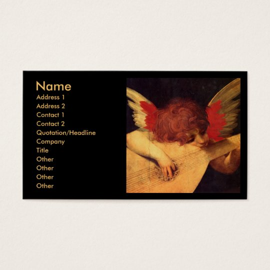 Angel Musician, Rosso Fiorentino Christian Business Card