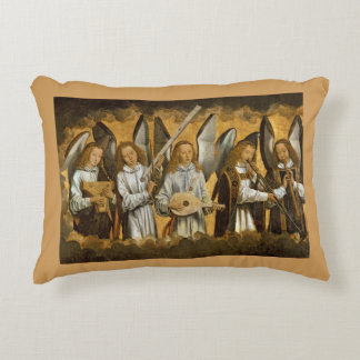 Angel Musicians c1480 Accent Pillow