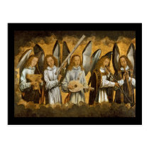 Angel Musicians c1480 Postcard