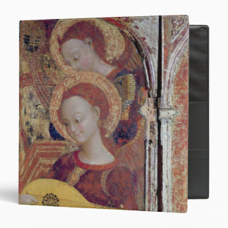 Angel musicians from painting of Virgin and Child 3 Ring Binder
