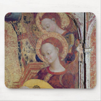 Angel musicians from painting of Virgin and Child Mouse Pad