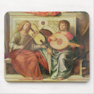 Angel musicians from painting of Virgin and Mouse Pad