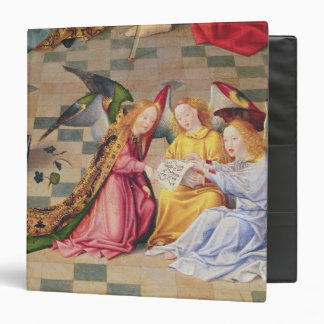 Angel musicians from right panel of altarpiece 3 ring binder