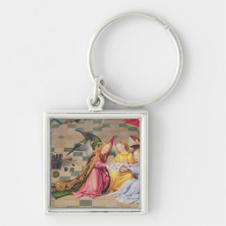 Angel musicians from right panel of altarpiece keychain