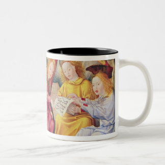 Angel musicians from right panel of altarpiece Two-Tone coffee mug