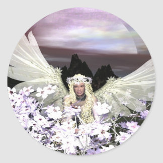 Angel My Guardian Classic Round Sticker
