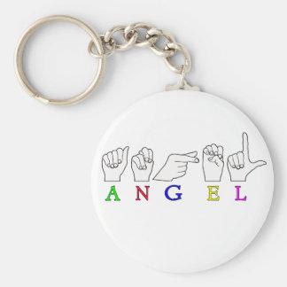 ANGEL   NAME ASL FINGER SPELLED FEMALE KEYCHAIN