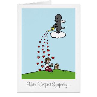 Ángel negro de Labrador con amor Tarjeta De Felicitación