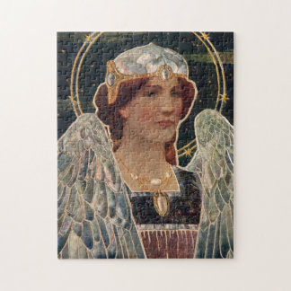 Angel Night Pearl Halo Wings Religious Vintage Jigsaw Puzzle