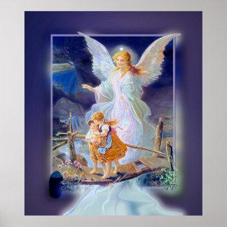 Ángel, niños y puente de guarda (exclusivos) póster
