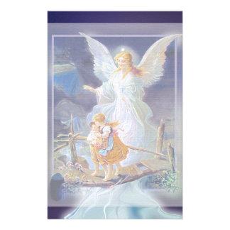 Ángel, niños y puente de guarda papelería de diseño