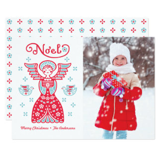 Angel Noel Christmas Photo Holiday Card