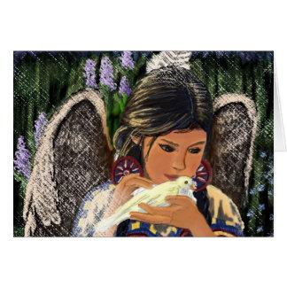 Ángel Notecard del nativo americano Tarjeta De Felicitación