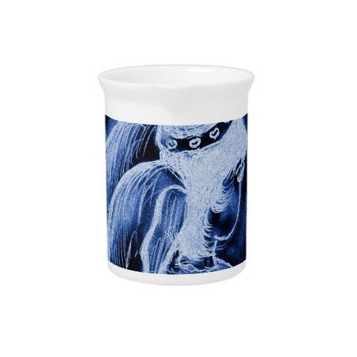 Ángel oblicuo invertido en azul jarron