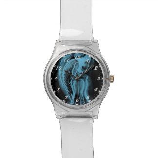 Ángel oblicuo invertido en el azul II Relojes
