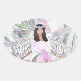 Angel of Acceptance Oval Sticker