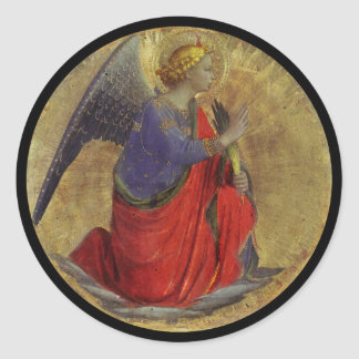 Angel of Annunciation by Fra Angelico Classic Round Sticker