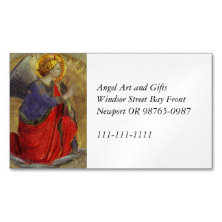 Angel of Annunciation by Fra Angelico Magnetic Business Card
