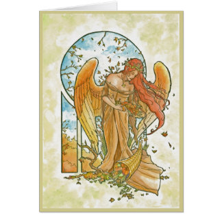Angel of Autumn Greeting Card