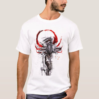 Angel Of Blood white and gray mens tshirt