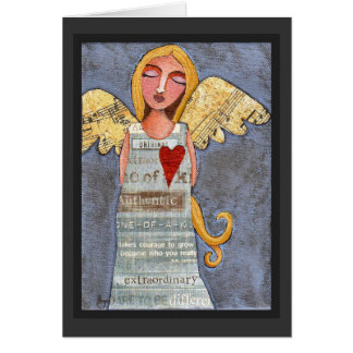 ANGEL of COURAGE - angelic greeting card