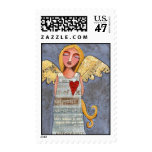 ANGEL of COURAGE - angelic postage stamp