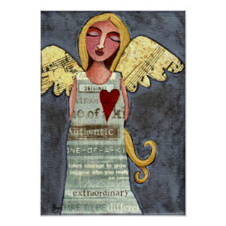 Angel of Courage-print Poster