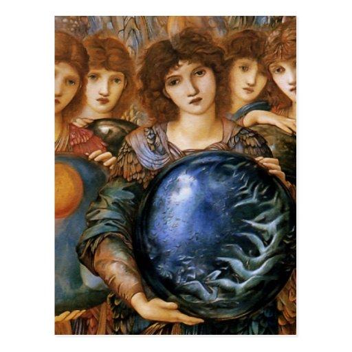 Angel of Creation by William Burne-Jones Post Card