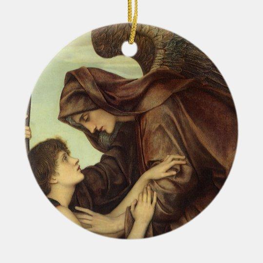 Angel of Death by Evelyn De Morgan Ceramic Ornament