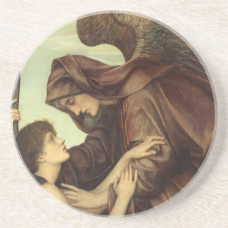 Angel of Death by Evelyn De Morgan Drink Coaster