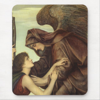 Angel of Death by Evelyn De Morgan Mouse Pad