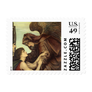 Angel of Death (detail) by Evelyn De Morgan Stamps
