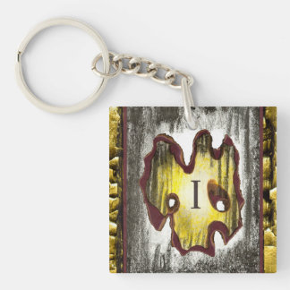 Angel of Death Double-Sided Square Acrylic Keychain