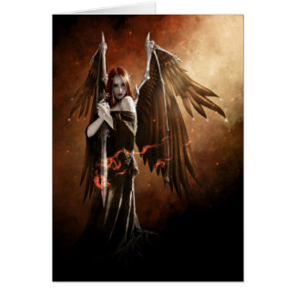 Angel of Death Greeting Card