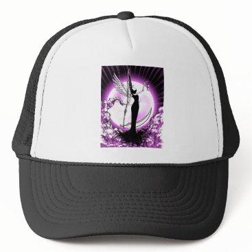 Halloween Themed Angel of Death Trucker Hat