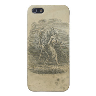 Angel of Death with Skeleton Case For iPhone SE/5/5s