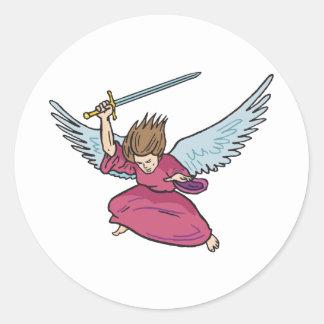 Angel Of Doom Classic Round Sticker