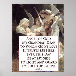 Angel of God Prayer Poster