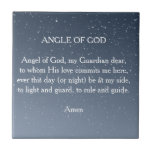 """Angel of God Tile<br><div class=""""desc"""">Angel of God,  my Guardian dear,  to whom His love commits me here,  ever this day (or night) be at my side,  to light and guard,  to rule and guide. Amen</div>"""