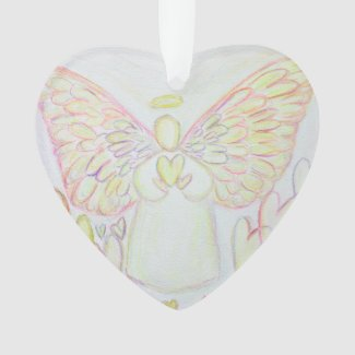Angel of Hearts Art Gift Holiday Ornament