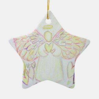 Angel of Hearts Art Pendant Ornament