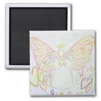 Angel of Hearts Custom Art Refrigerator Magnet