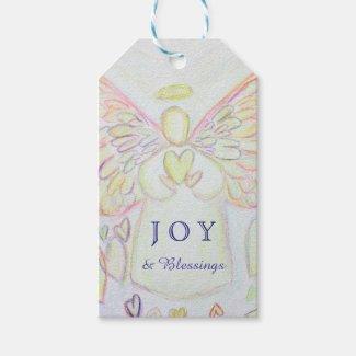 Angel of Hearts Holiday Joy Custom Gift Tags