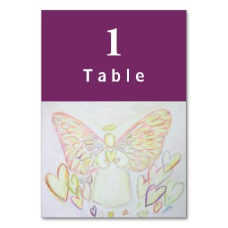 Angel of Hearts Inspirational Custom Table Cards
